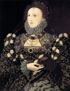 HILLIARD, Nicholas - Portrait of Elizabeth I, Queen of England 1575 76