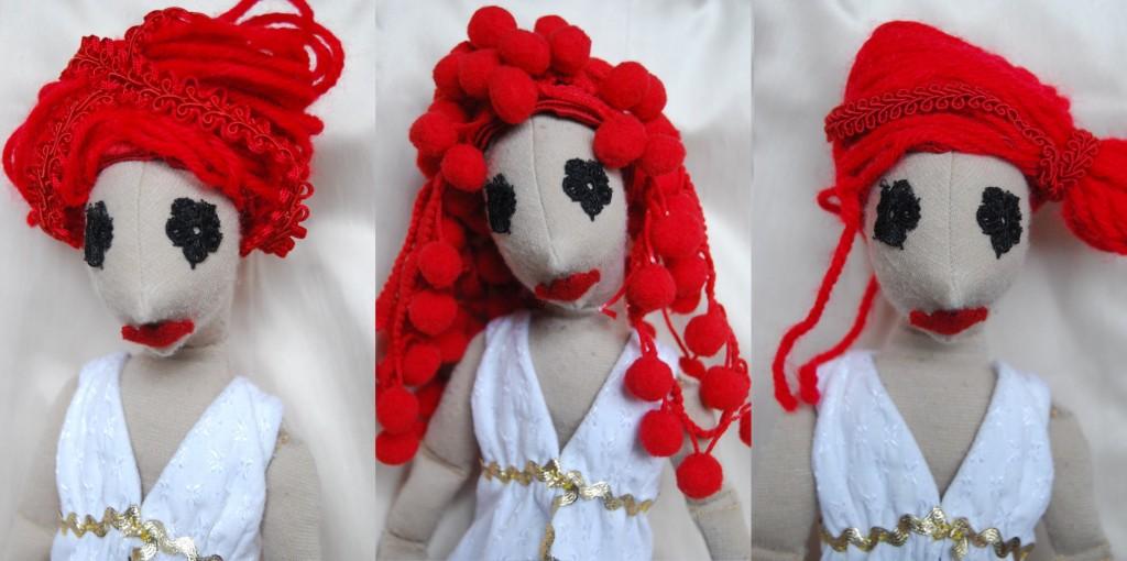 vörös kézműves babák: Anasztázia