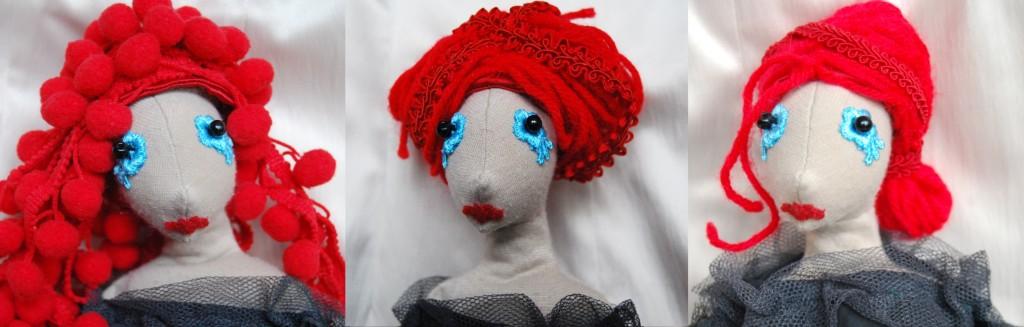 vörös kézműves babák: Leonóra