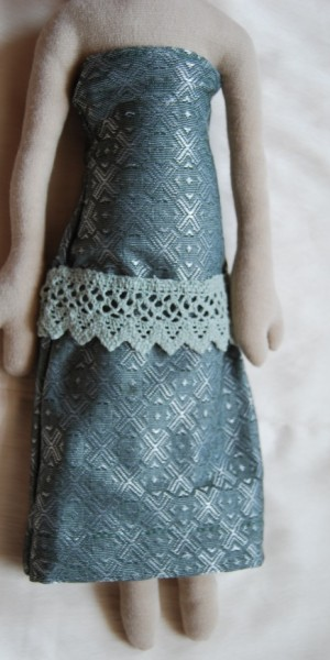 A vonalú ruha_zöld