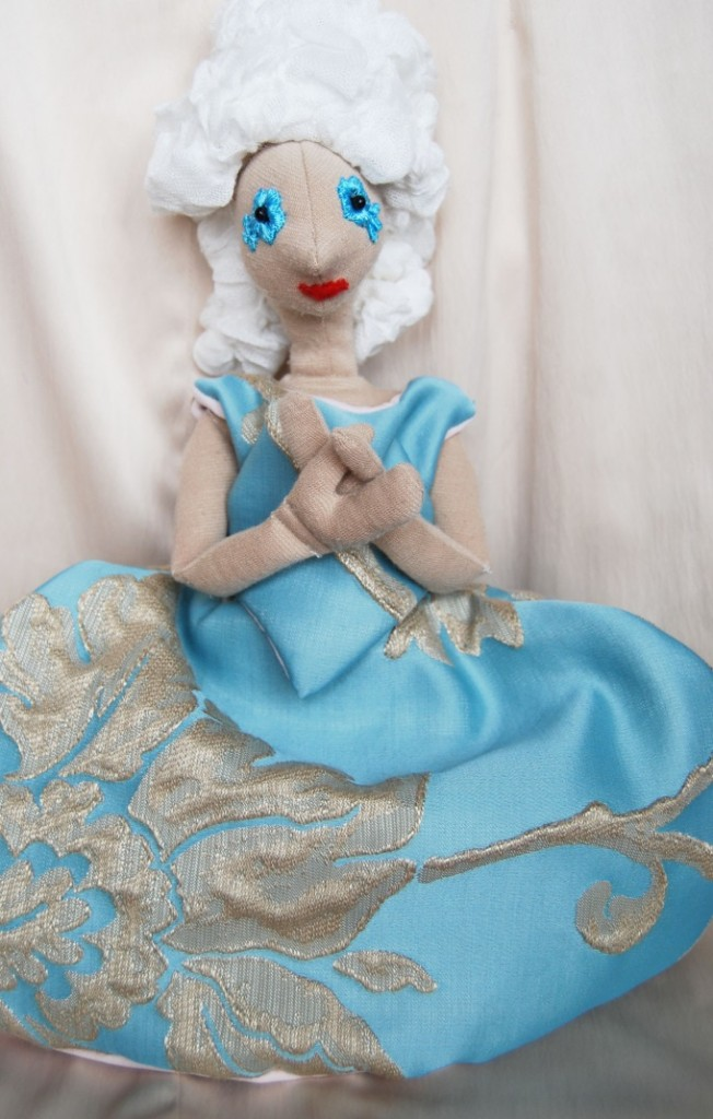 elegáns kék rokokó Rongylady