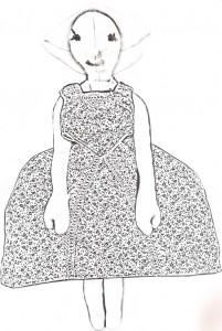 papír öltöztetős baba