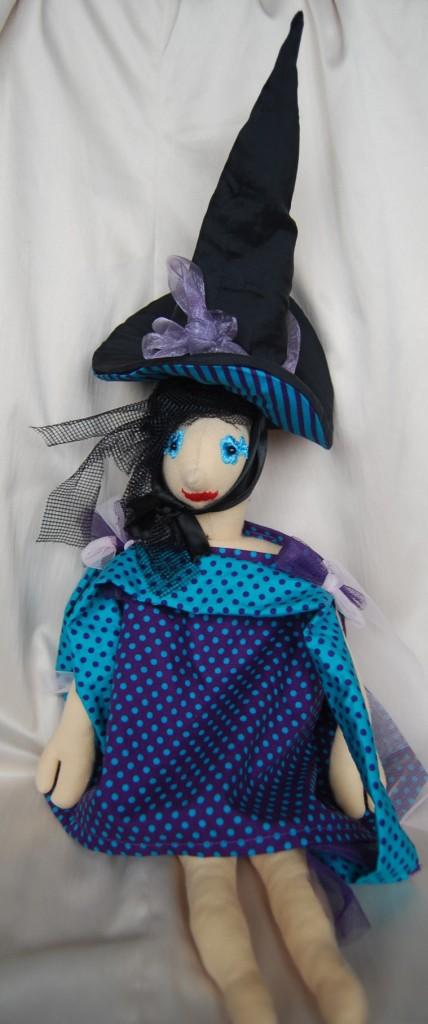 2 in 1 boszorkány kalapban, fekete fele