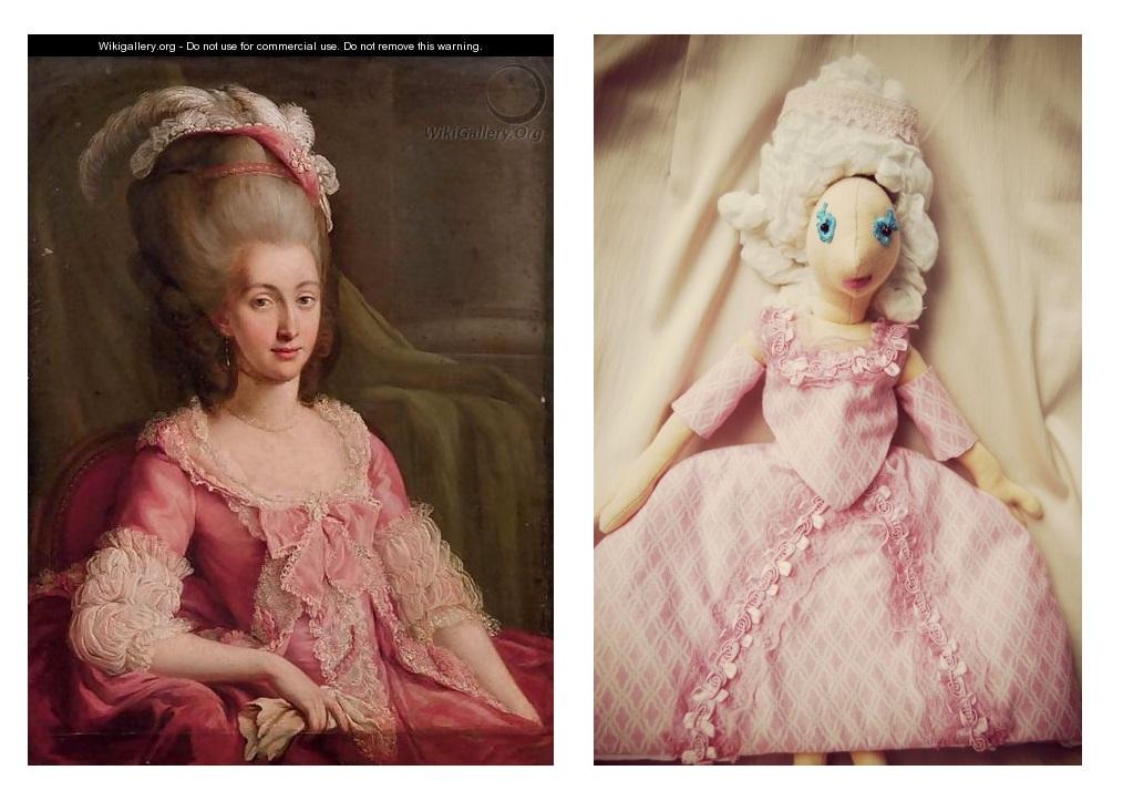 Rokokó Marie Antoinette és Rongylady párja